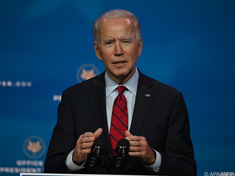 Biden will von seinem ersten Tag im Amt an rasch handeln