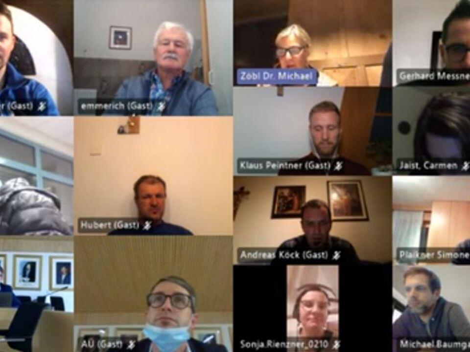 Bild Videokonferenz Gemeinderat Natz-Schabs