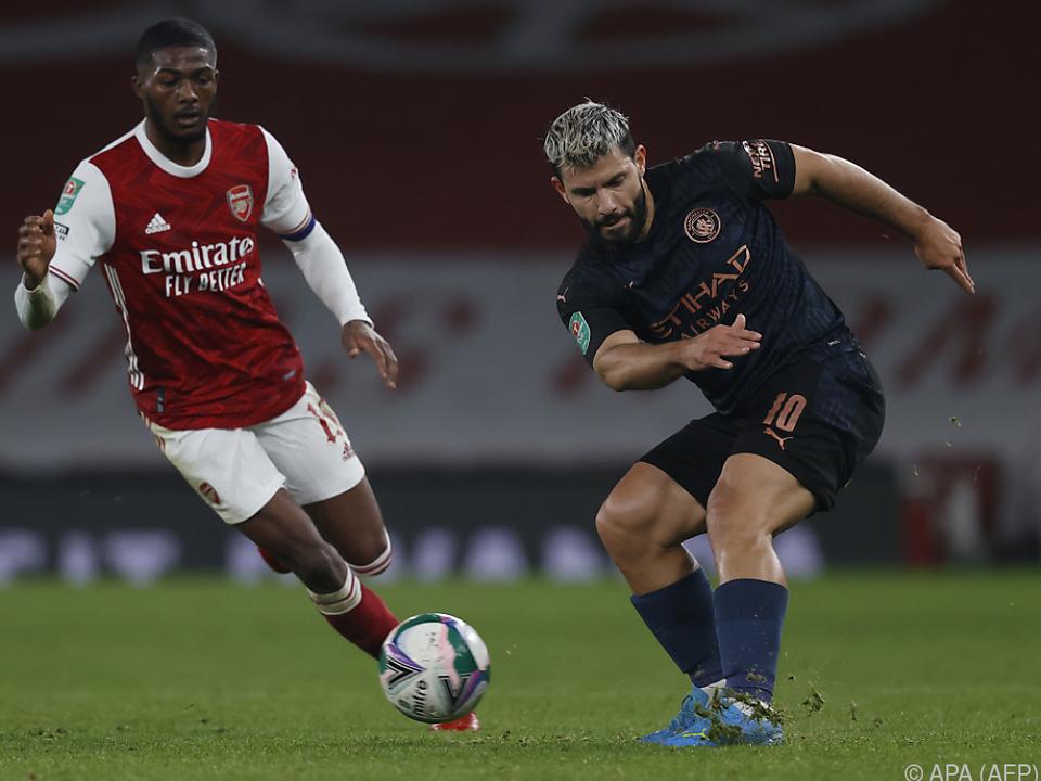 Sergio Aguero (r.) und Co. hatten mit Arsenal leichtes Spiel