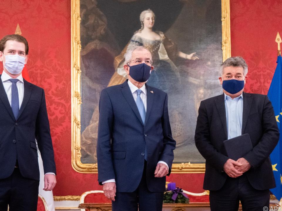 Bundespräsident traf Kanzler und Vizekanzler