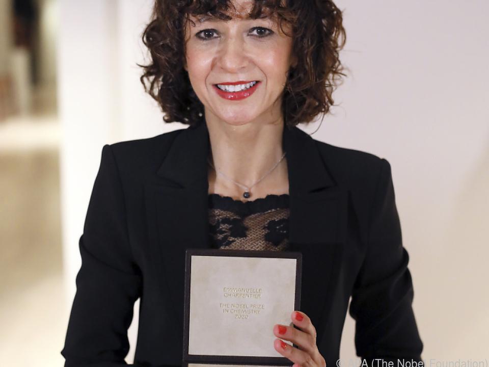 Charpentier erhielt den Preis coronabedingt an ihrem Wohnort