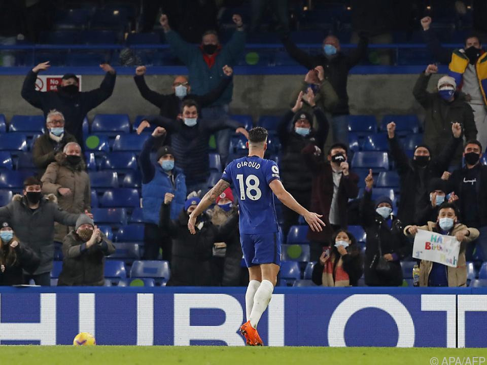Chelsea-Stürmer Olivier Giroud darf erstmals wieder vor Fans jubeln