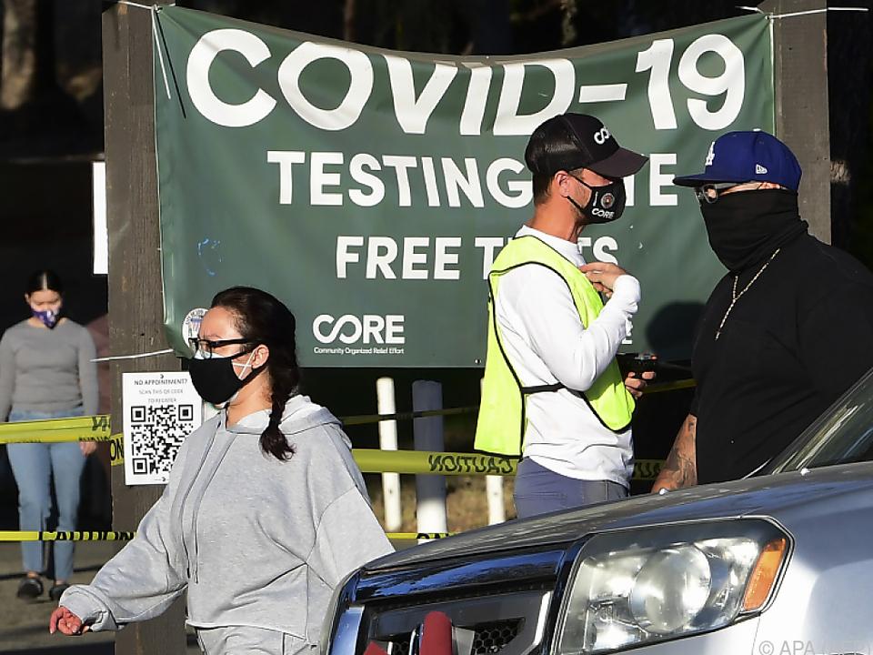 Corona-Teststation in den USA