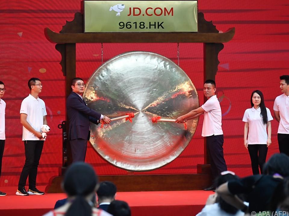 Der chinesische Online-Händler JD.com ging heuer an die Börse