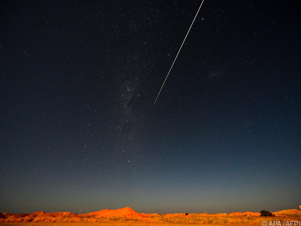 Die Kapsel schlug in der australischen Wüste auf