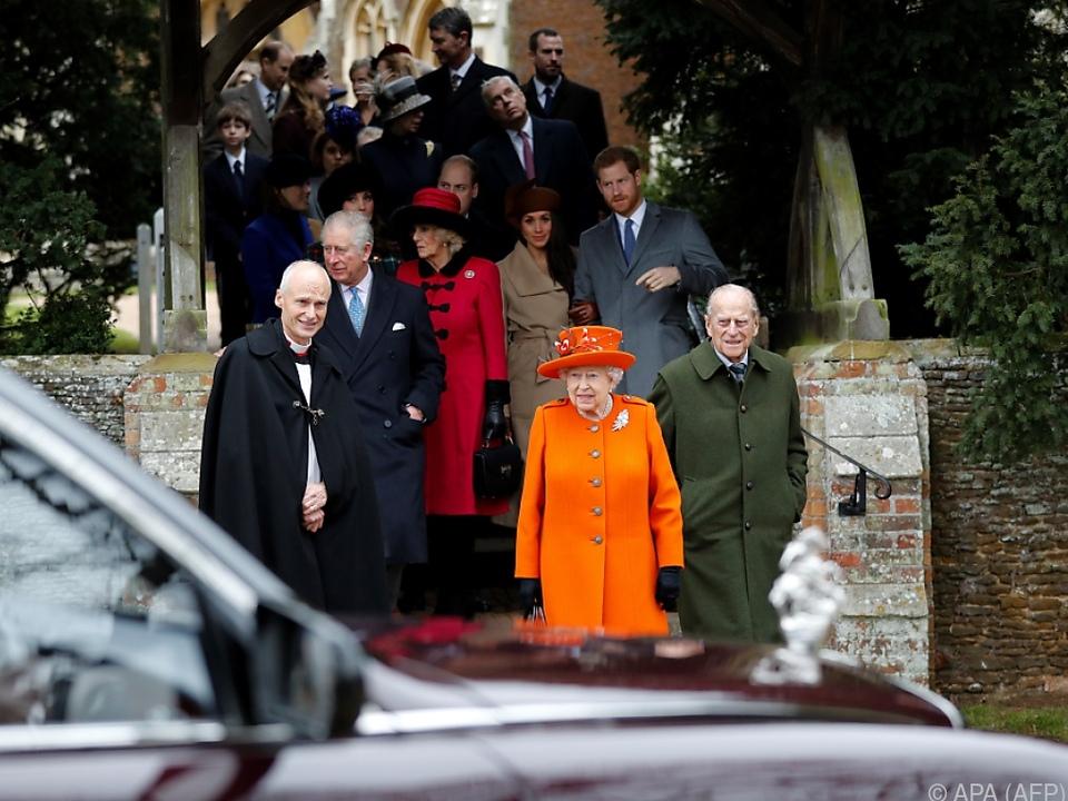 Die Queen verbringt Weihnachten normalerweise in Sandringham