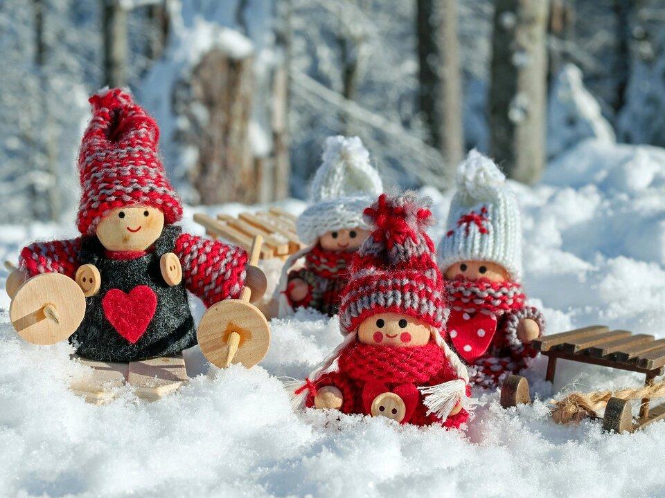 Puppen Schnee