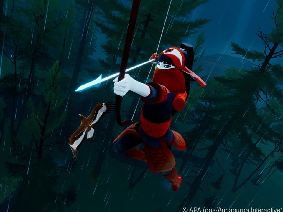 Die Heldin ist mit Pfeil und Bogen bewaffnet - kämpfen muss sie aber kaum