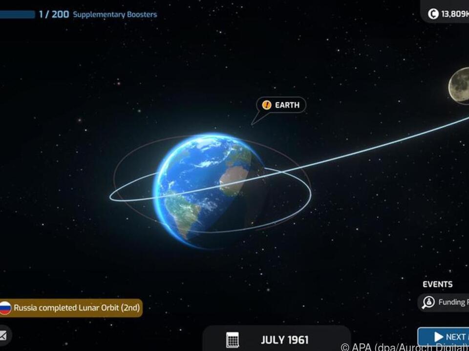 Ein Flug zu fremden Planeten will in \