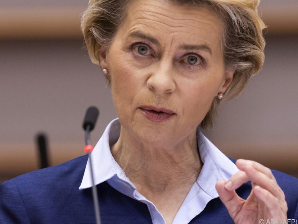 EU-Kommissionschefin für gemeinsames Vorgehen der EU-27