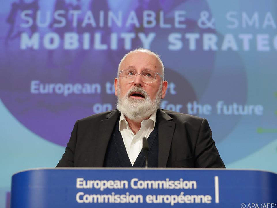 Frans Timmermans hat den Plan vorgestellt