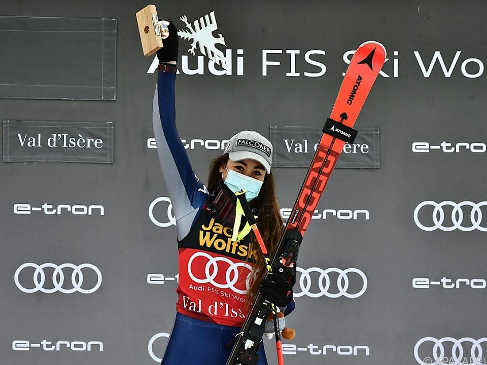 Sofia Goggia gewann die zweite Abfahrt in Val d\'Isere