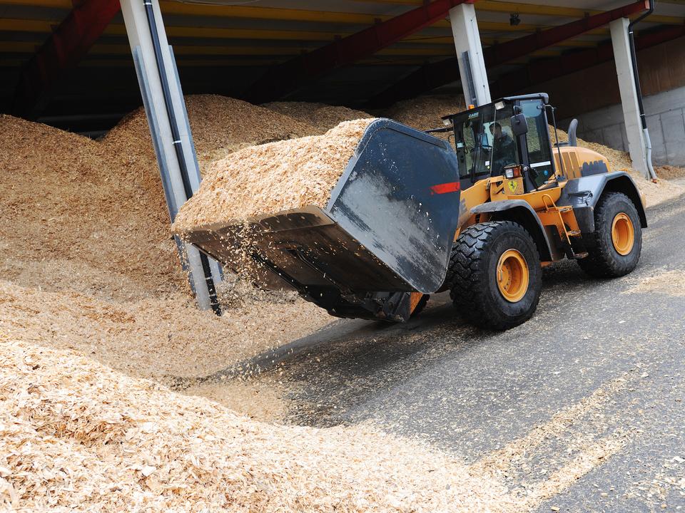 Hackschnitzel Biomasse Fernheizwerk