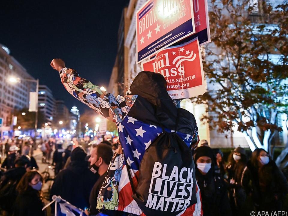 In den USA gibt es immer wieder Anti-Rassismus-Proteste