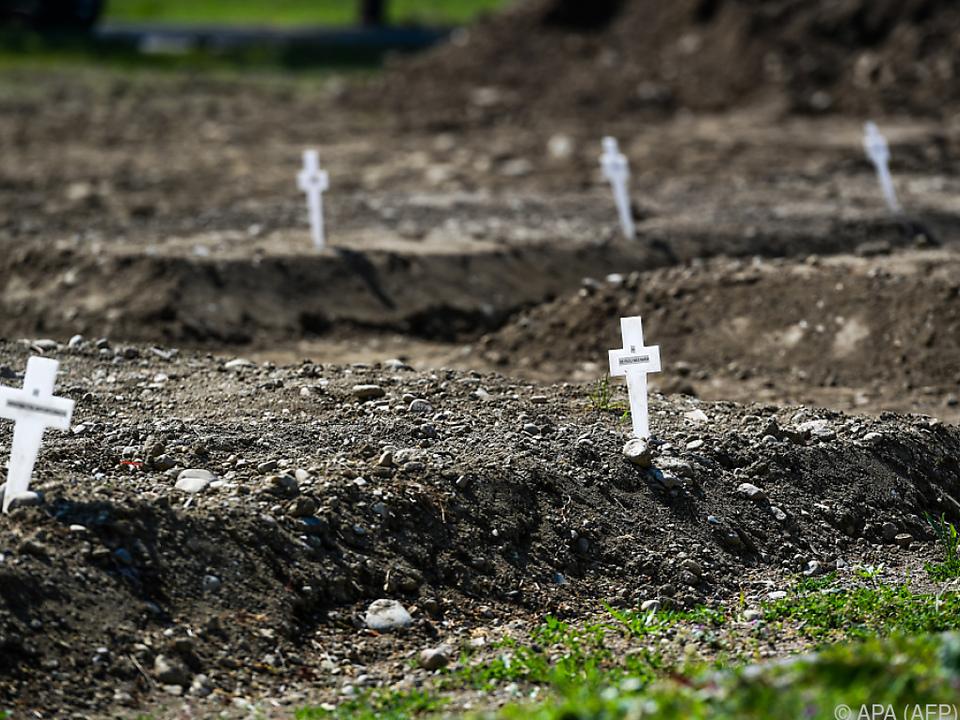 In Italien wurden am Samstag 649 neue Corona-Tote gemeldet
