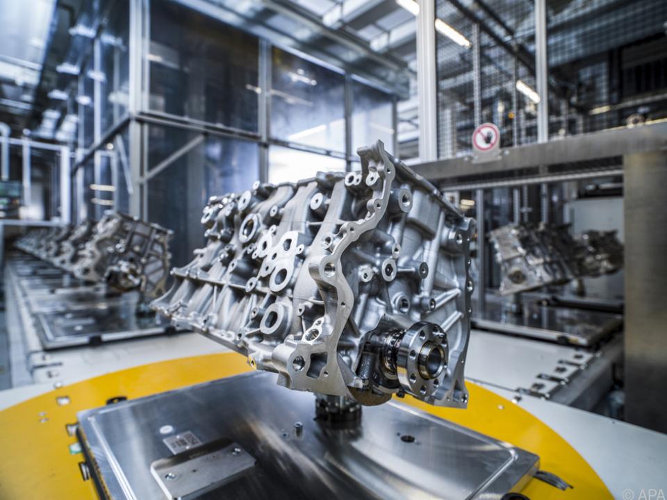 Ein Motor aus dem BMW-Werk in Steyr (OÖ)