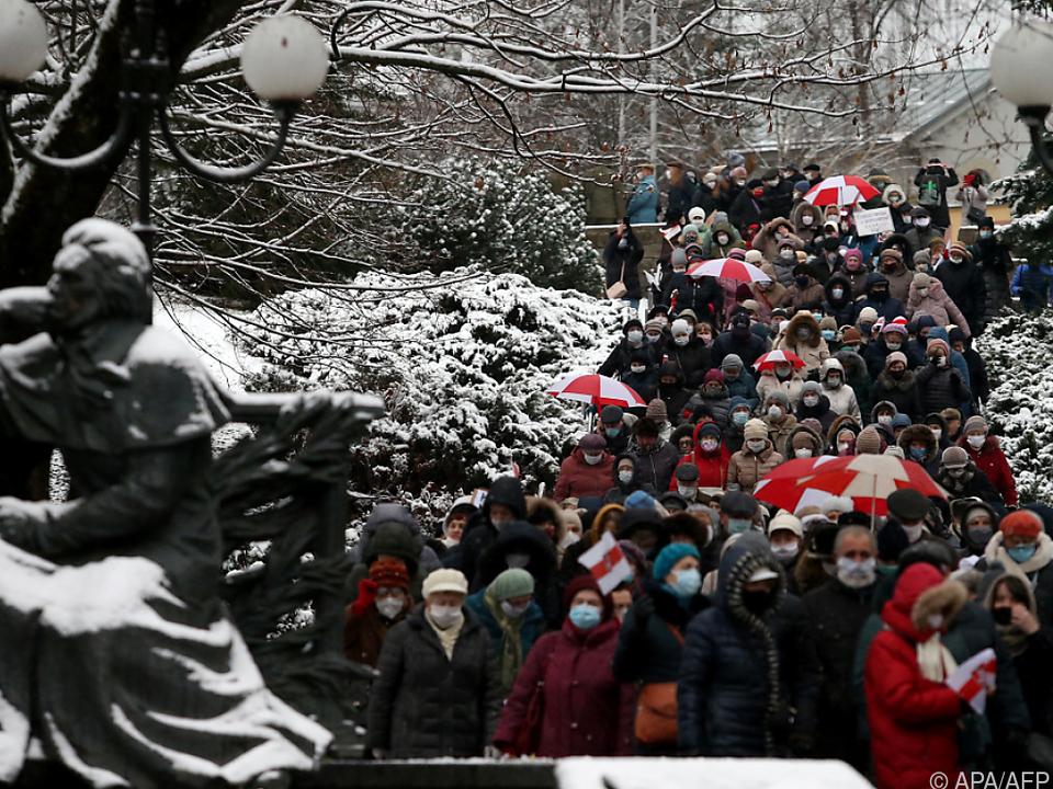 In Weißrussland wird seit Monaten protestiert (Archivbild)