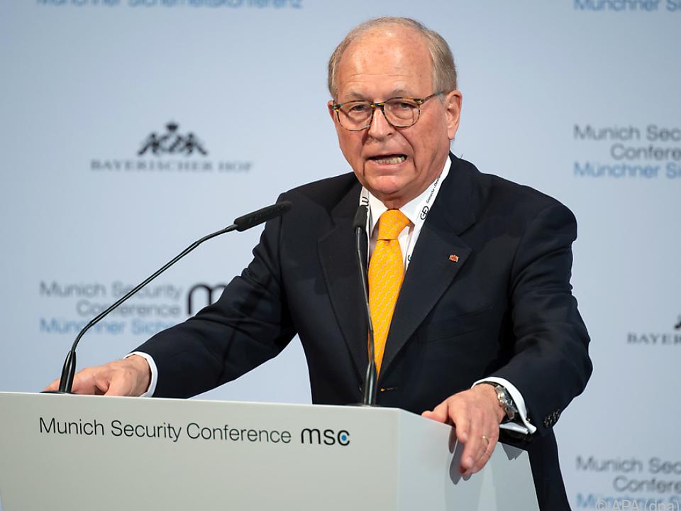 Sicherheitskonferenz-Chef Ischinger im Februar