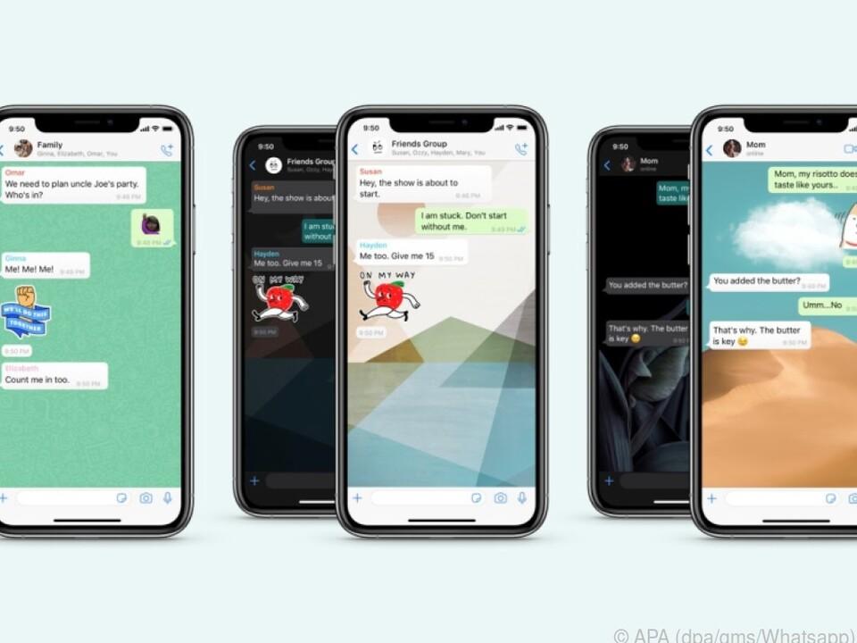 Jeder Whatsapp-Chat kann nun seinen eigenen Hintergrund haben