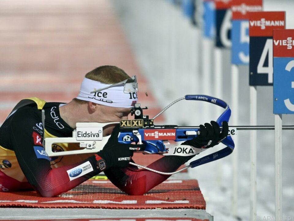 Johannes Thingnes Bö wurde diesmal Dritter