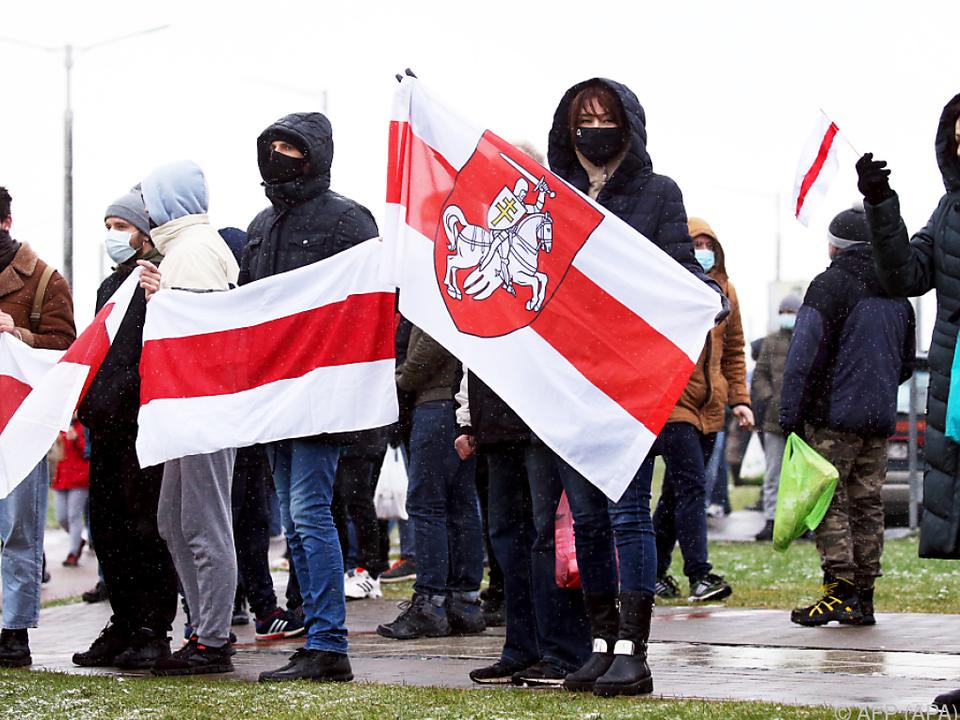 Oppositions-Proteste in Minsk