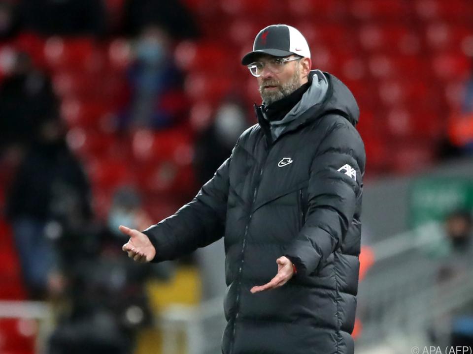 Liverpool-Trainer Klopp muss sich mit Remis begnügen