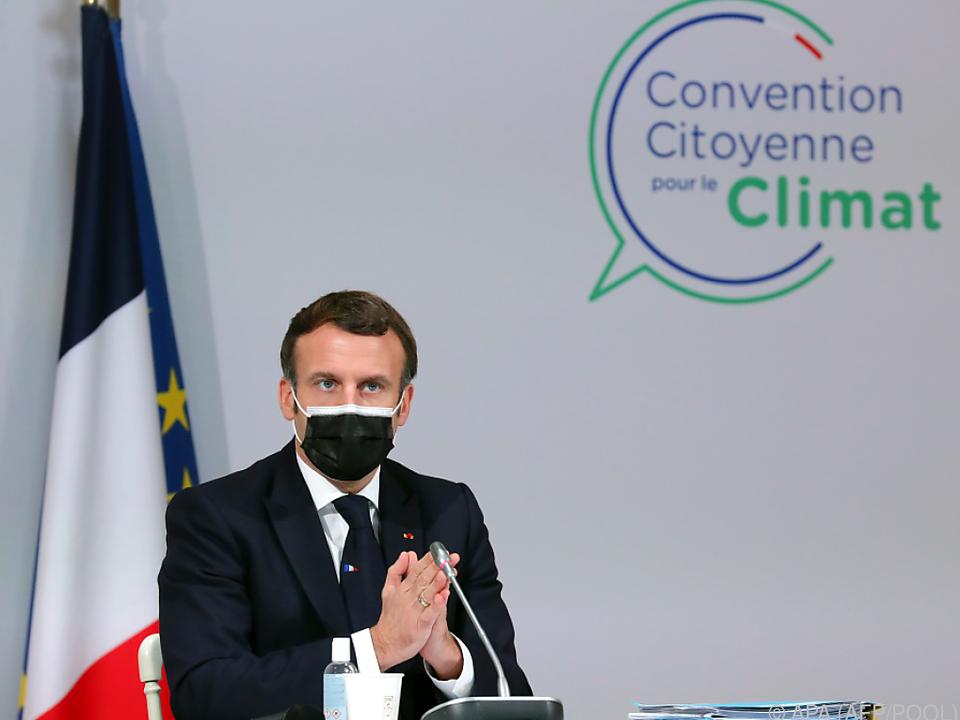 Macron auf dem Bürgerkonvent für Klimapolitik in Paris