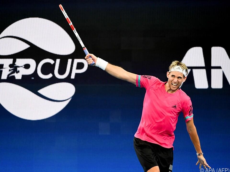 Thiem startet mit dem ATP Cup ins Jahr 2021