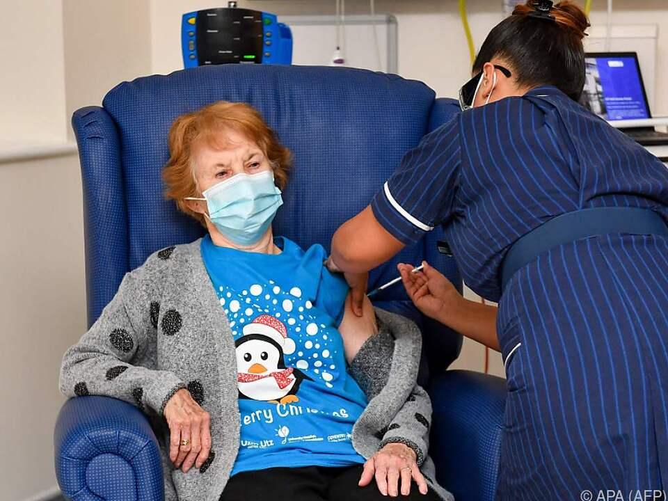 Margaret Keenan ist die erste in Großbritannien geimpfte Person