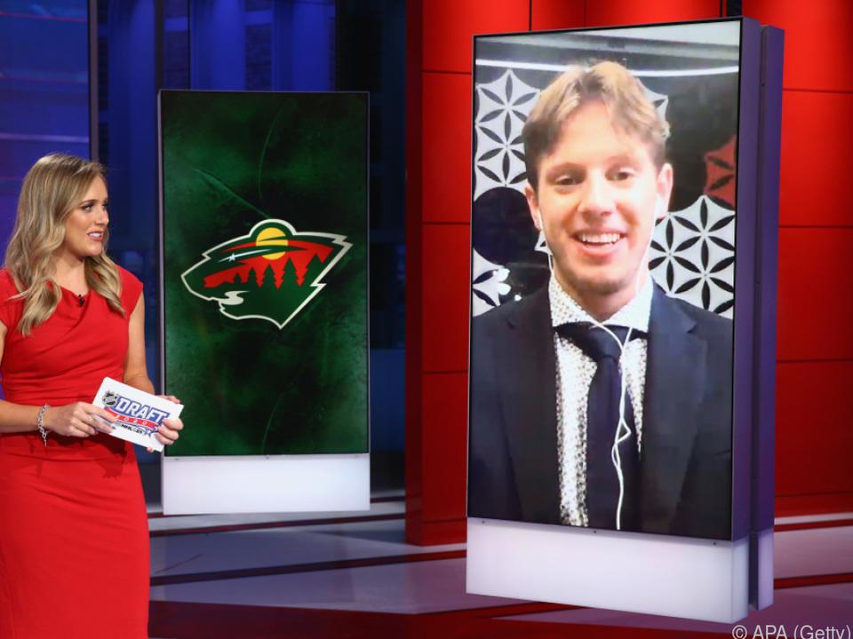 Eishockey-Talent Marco Rossi beim virtuellen NHL-Draft