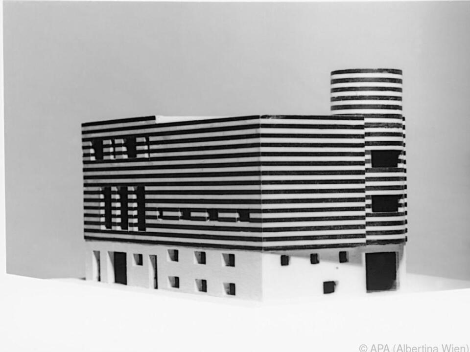 Loos\' Modell für das Haus von Josephine Baker