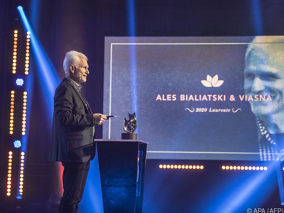 Nur der weißrussische Preisträger Beljazki war zugegen