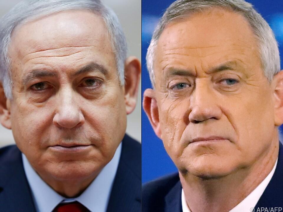 Benjamin Netanyahu und Benny Gantz