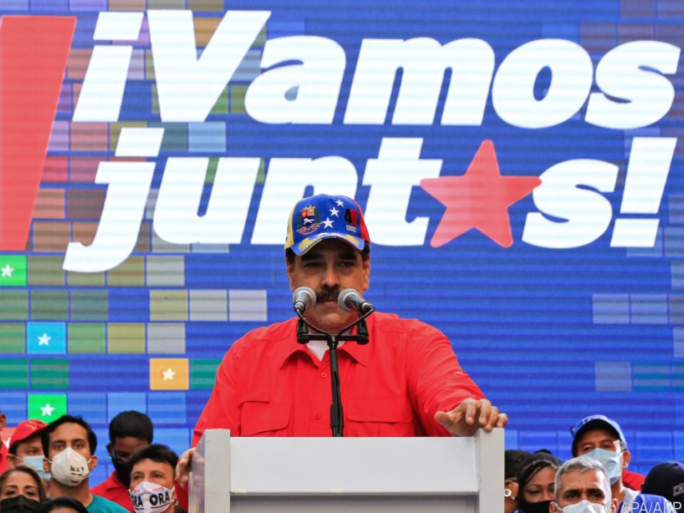 Präsident Nicolas Madura wirbt für seine PSUV