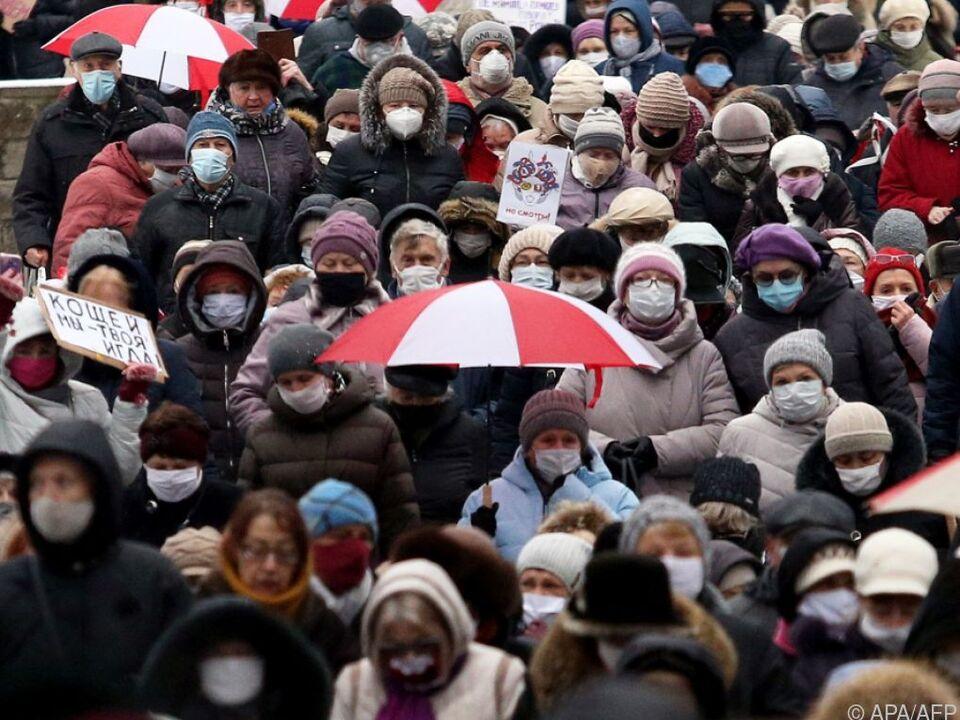 Proteste in Belarus dauern seit Monaten an (Archivbild)