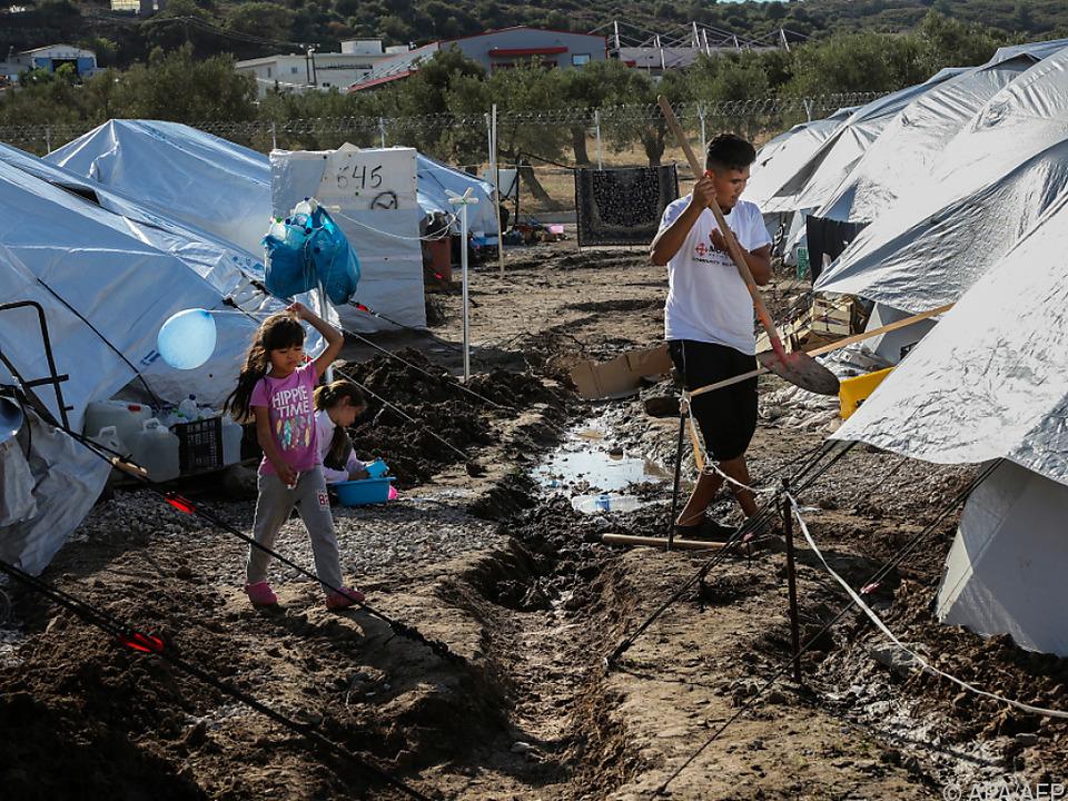 Dramatische Zustände in griechischen Flüchtlingslagern
