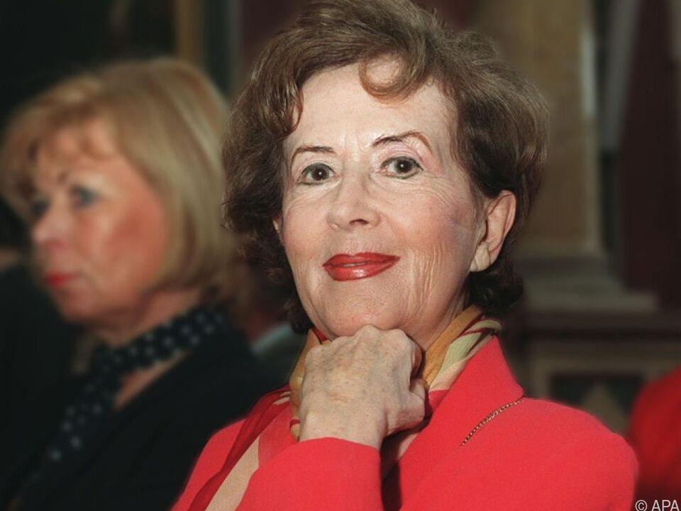 Schauspielerin Senta Wengraf auf einem Archivbild aus dem Jahr 1997