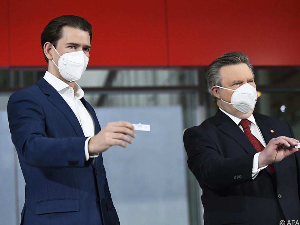 Sebastian Kurz und Michael Ludwig demonstrierten Einigkeit