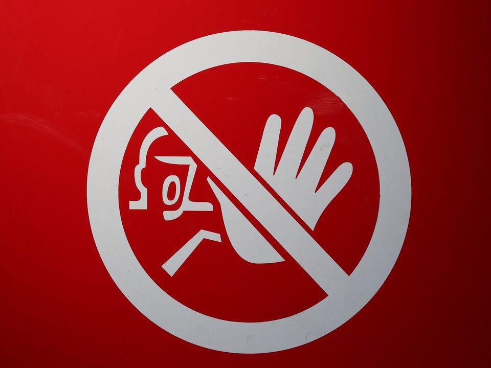 Betreten verboten Verbotsschild