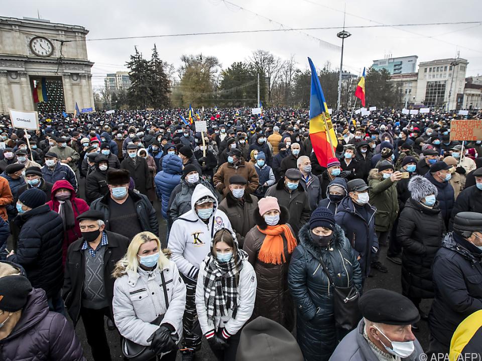 Tausende gingen in Chisinau auf die Straße