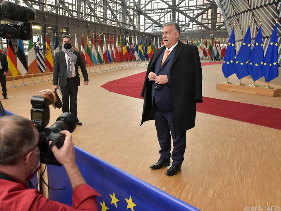 Ungarns Premier Viktor Orban zeigte sich zufrieden