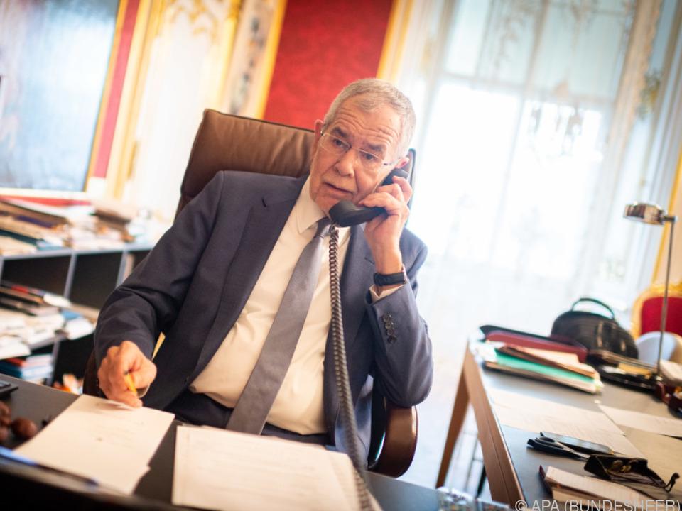 Van der Bellen wird mit Obleuten der Oppositionsparteien sprechen