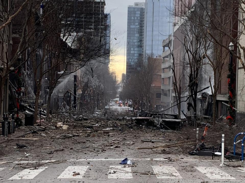 Verwüstete Innenstadt Nashvilles nach mysteriöser Explosion