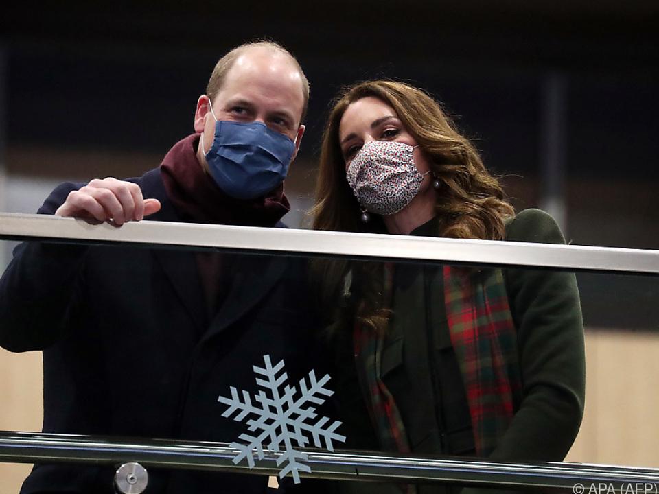 William und Kate auf dem Bahnhof London Euston