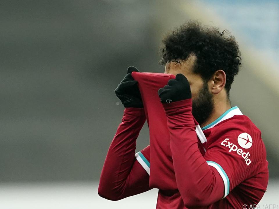 Zum Haare raufen war die Partie für Mohamed Salah