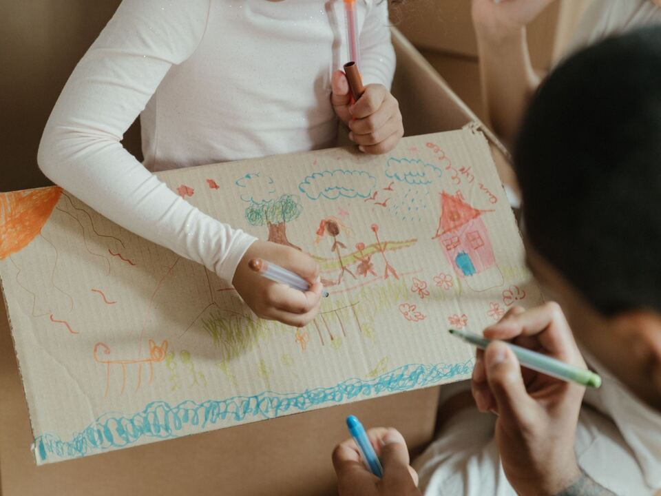 Wohnung Wohnungsnot Familie Kind Zeichnung