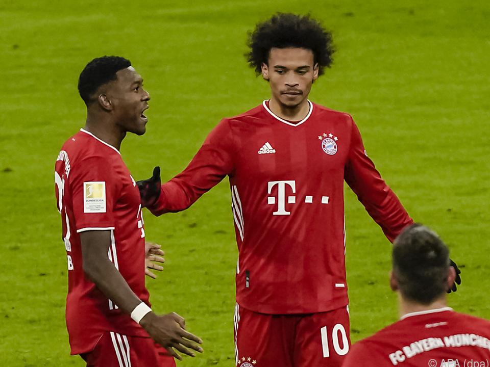 Alaba und der Ex-Schalker Sane wollen am Sonntag wieder jubeln