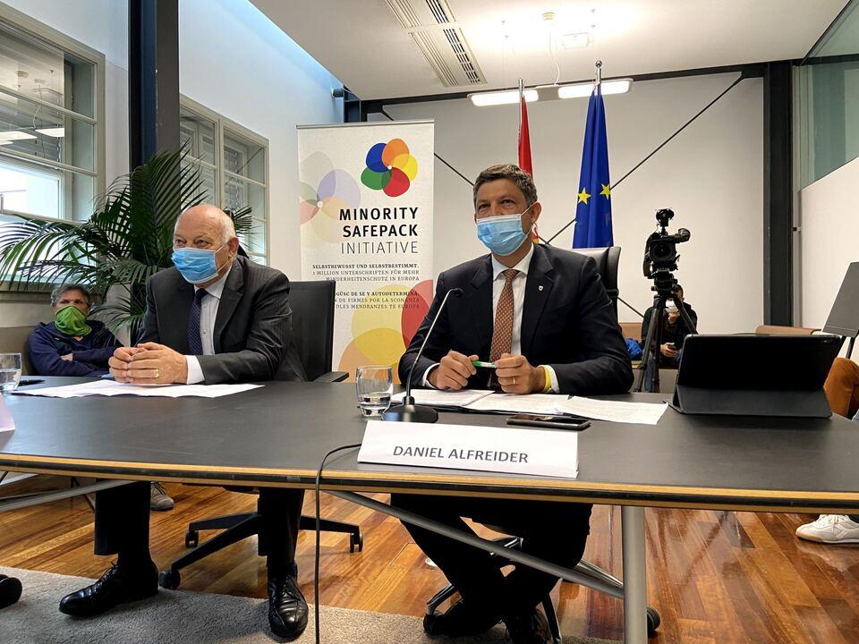 Alt-Landeshauptmann Luis Durnwalder und FUEN-Vizepräsident Daniel Alfreider