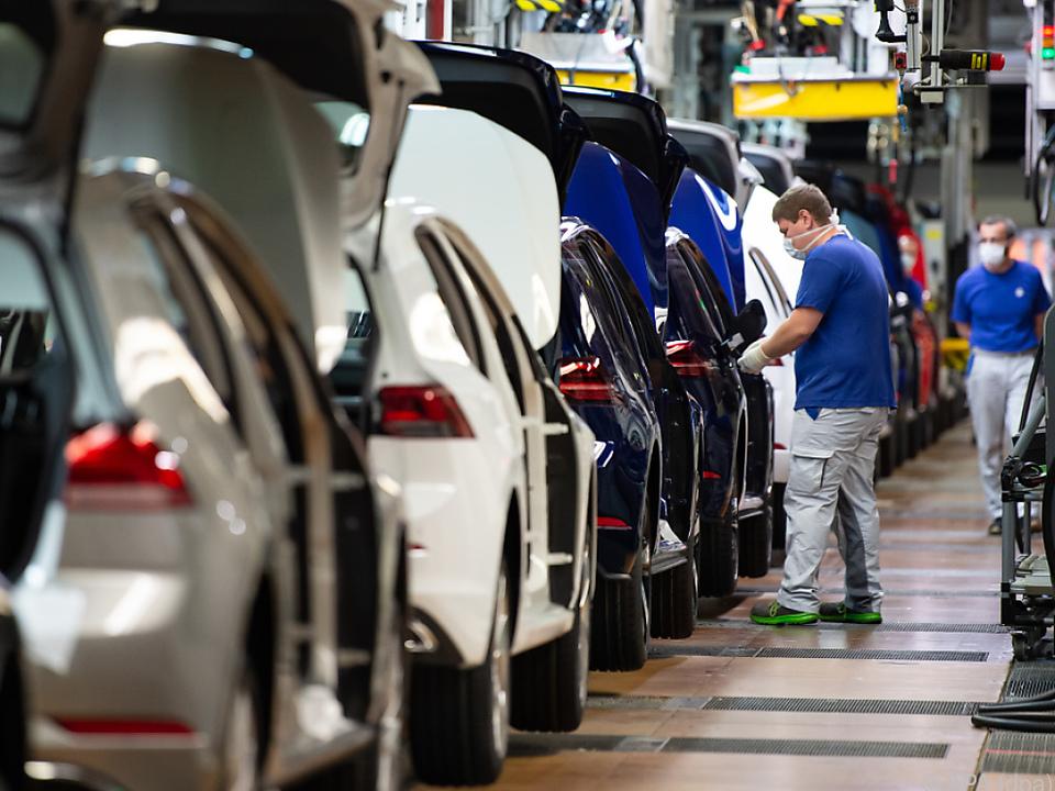 Autoproduktion im VW-Werk in Wolfsburg