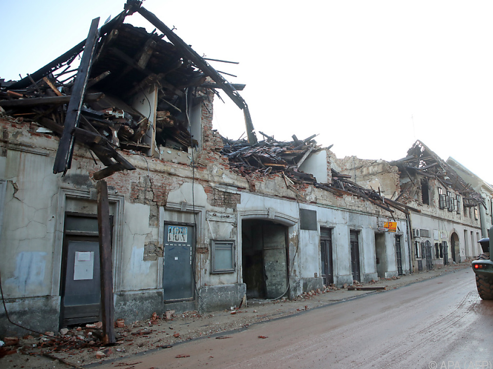 Das Epizentrum liegt erneut in der Kleinstadt Petrinja